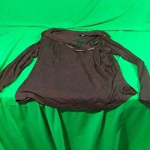 NWT Eloquii sz 20 black long sleeve blouse